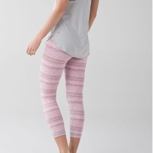 Lululemon Cyber Stripe Flash Light Menthol Crop